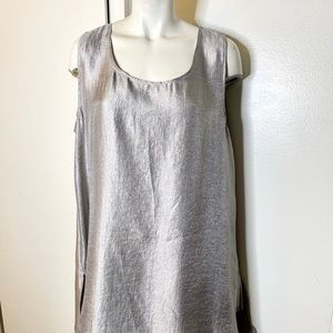 NWT M square M taupe Silky Tank Top L XL
